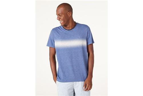 Camiseta Faixa Degradê - Azul - G