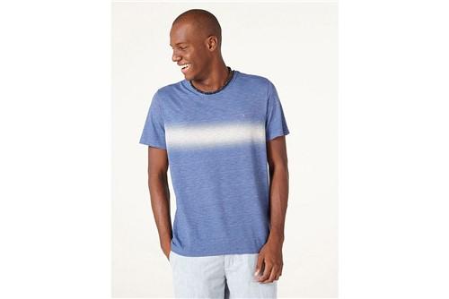 Camiseta Faixa Degradê - Azul - P