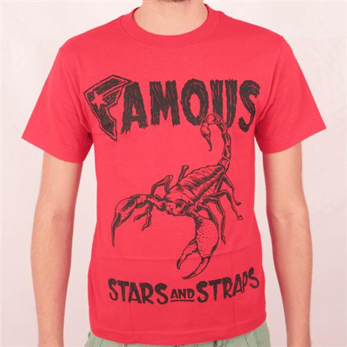 Camiseta Famous Scorpio Vermelho P