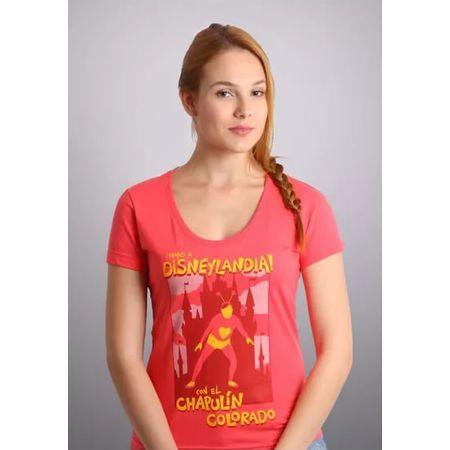 Camiseta Feminina Chapolim Disneylândia P