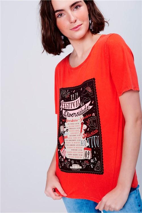 Camiseta Feminina Estampada