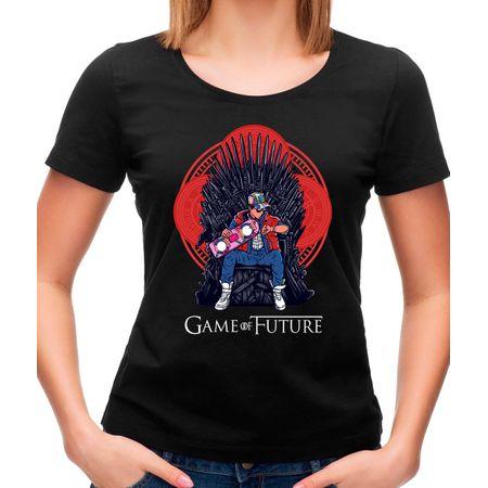 Camiseta Feminina Game Of Future P - PRETO