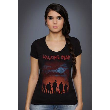 Camiseta Feminina os Mortos Vivos P