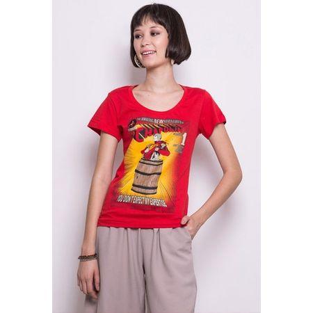 Camiseta Feminina Polegar Vermelho P