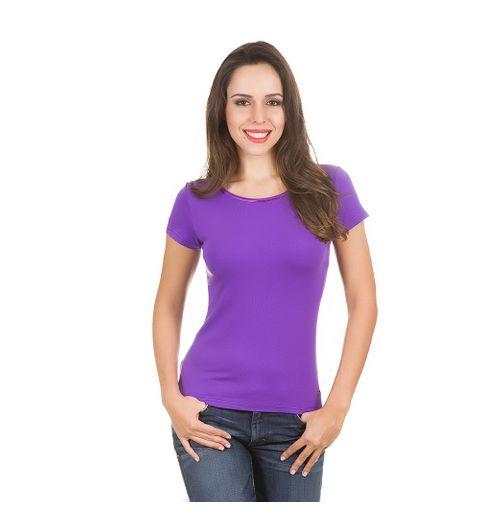 Camiseta Feminina Roxa Lisa - XG
