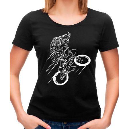 Camiseta Feminina Samurai Rider P - PRETO
