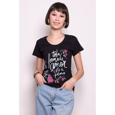 Camiseta Feminina Toda Forma de Amor GG