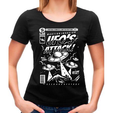 Camiseta Feminina Ufo P - PRETO