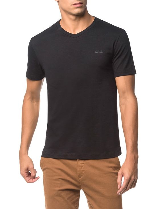 Camiseta Flame Slim Calvin Klein - Preto - G