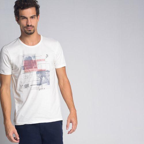 Camiseta Foto Bordado Off White - P