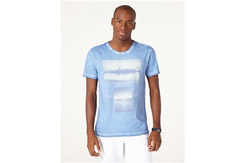 Camiseta Fotografias - Azul - P