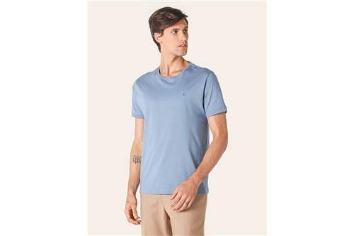 Camiseta Jersey Algodão Pima - Azul - P