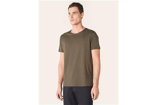 Camiseta Gola Careca de Algodão Pima - Verde - P