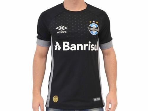 Camiseta Gremio Goleiro Of 2018 Preto Cinza