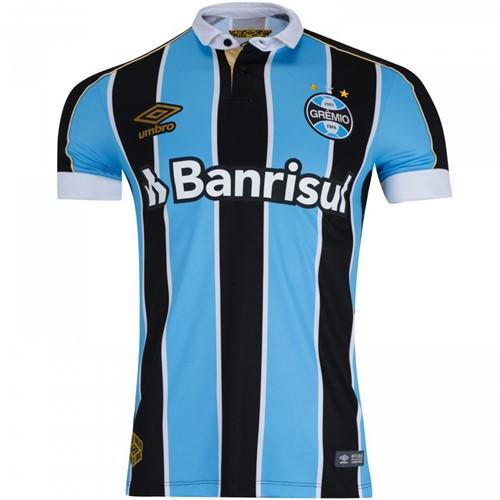 Camiseta Grêmio Masculina Umbro OF.1 2019 3G160779 Tricolor