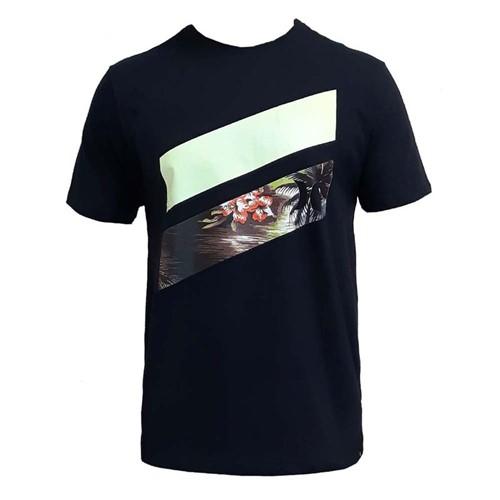 Camiseta Hurley Slash Palms Preta GG