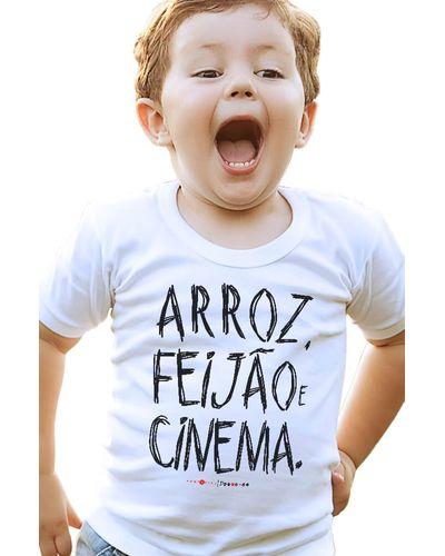 Camiseta Infantil Arroz, Feijão & Cinema