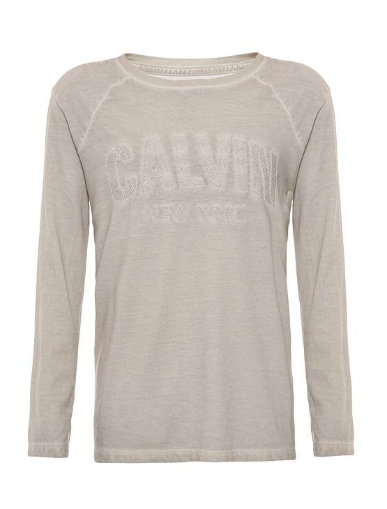 Camiseta Infantil Calvin Klein Jeans Bordado Logo Cinza Claro - 2