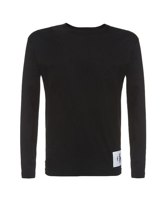 Camiseta Infantil Calvin Klein Jeans Etiqueta Logo Preto - 6