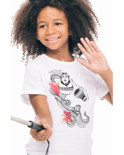 Camiseta Infantil Fernando Pessoa Matrioshka
