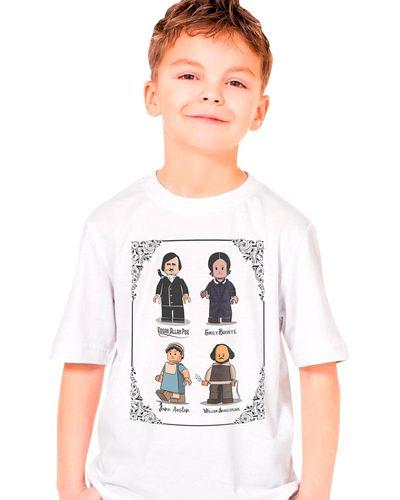 Camiseta Infantil Lego Escritores