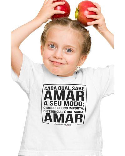 Camiseta Infantil Saiba Amar