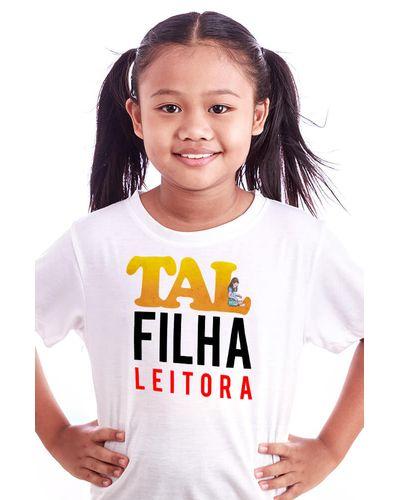 Camiseta Infantil Tal Filha Leitora