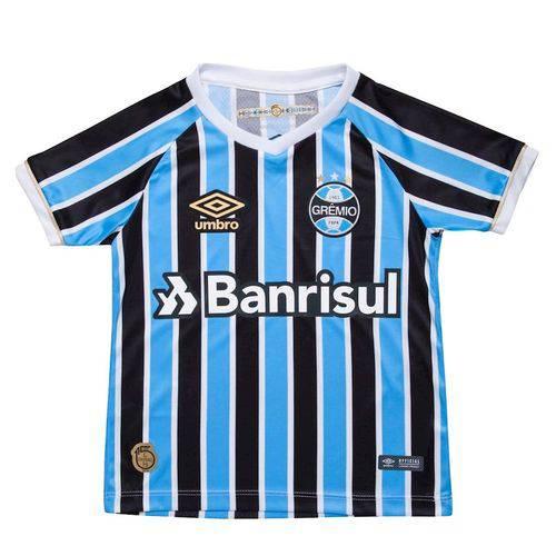 Camiseta Infantil Umbro Grêmio OF. 1 2018 S/N