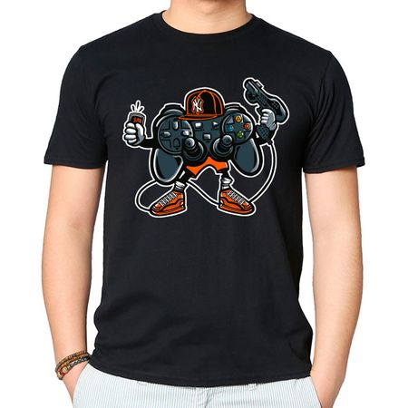 Camiseta Let's Play Mega Drive P - PRETO