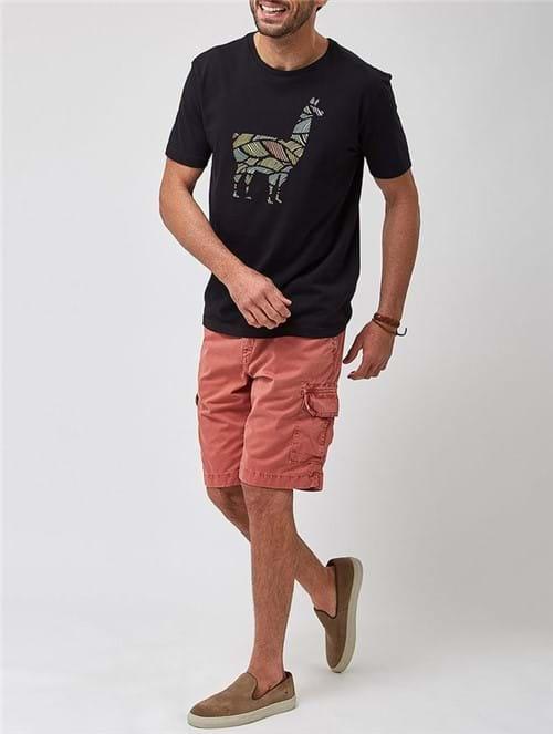 Camiseta Lhama Colors Preta Tamanho GG