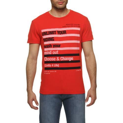 Camiseta LIMITS Reta Vermelho P