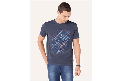 Camiseta Linhas Geométricas - Marinho - P