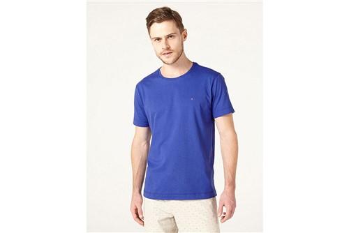 Camiseta Listras Careca Básica - Azul - G