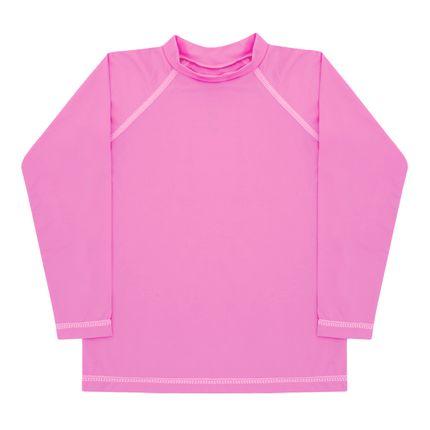 Camiseta Longa Surfista para Bebê em Lycra FPS 50 Pink - Dedeka