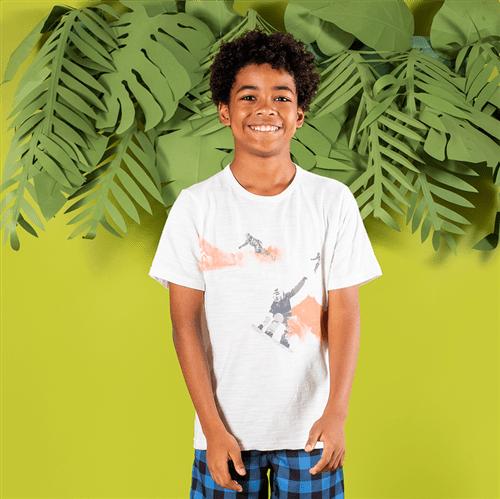 Camiseta M/c Avulso Off White/10 e 12