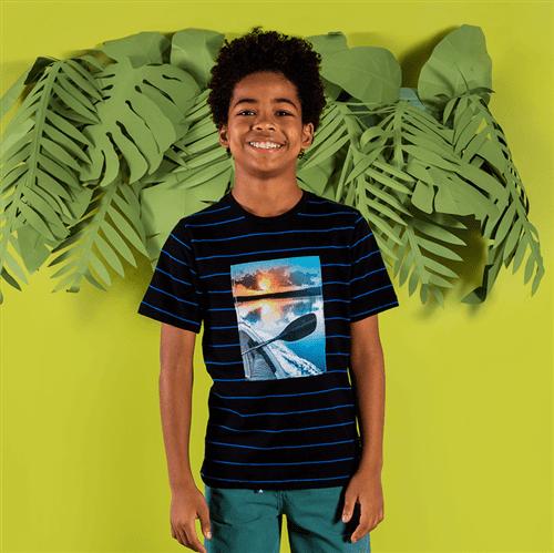 Camiseta M/c Avulso Preto/10 e 12