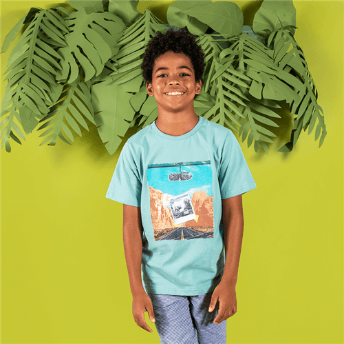 Camiseta M/c Avulso Verde Oceano/10 e 12