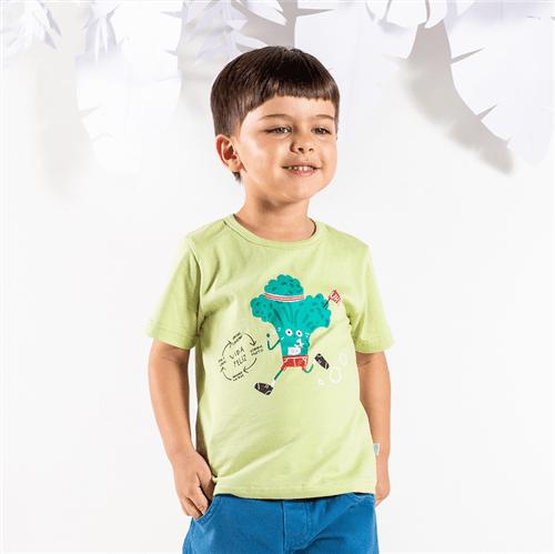 Camiseta M/c Brincadeiras do Bem Verde/2 e 3