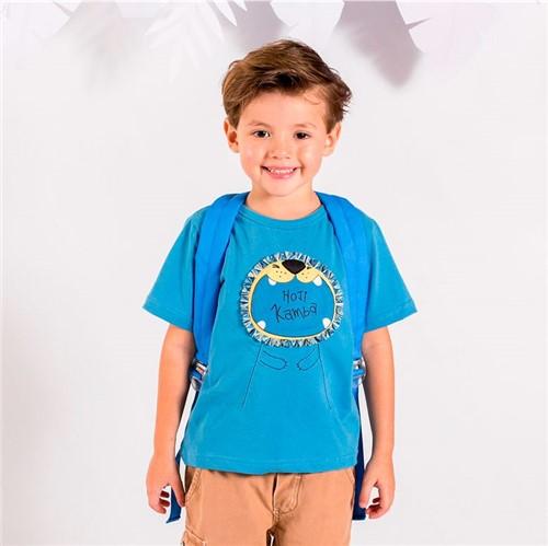 Camiseta M/c Todos Falamos Português Camiseta M/c Todos Falamos Portugues Azul Seco/1 e