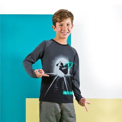 Camiseta M/L 1/2 Malha Camiseta M/l Avulso Preto/10