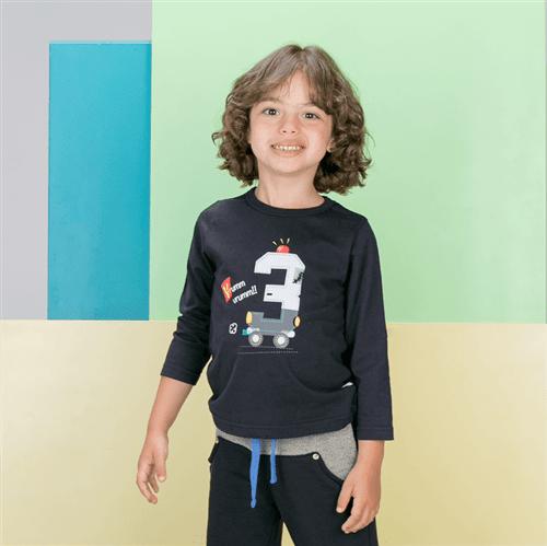 Camiseta M/l Avulso Preto/01