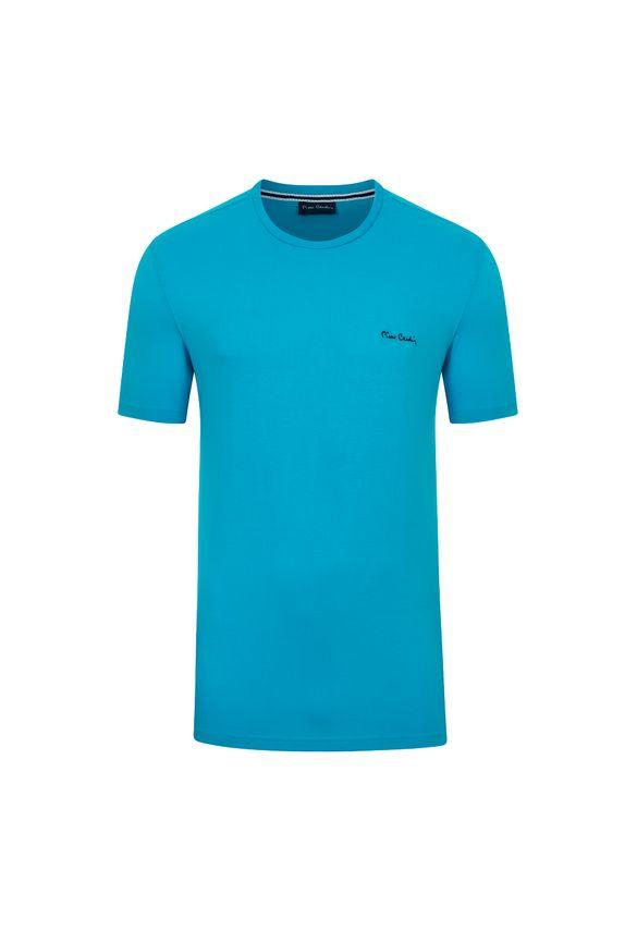 Camiseta Malha Básica Azul Turquesa P