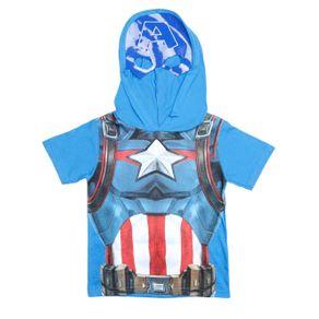 Camiseta Manga Curta Avengers Infantil para Menino - Azul 4