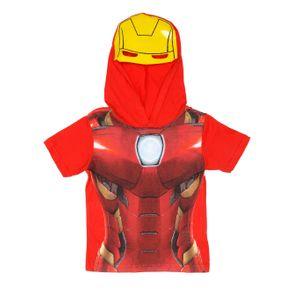 Camiseta Manga Curta Avengers Infantil para Menino - Vermelho 8