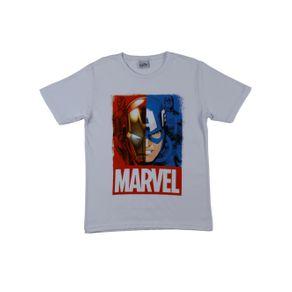 Camiseta Manga Curta Avengers Juvenil para Menino - Branco 16