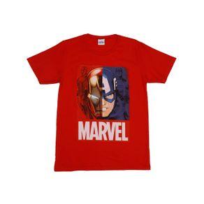 Camiseta Manga Curta Avengers Juvenil para Menino - Vermelho 14