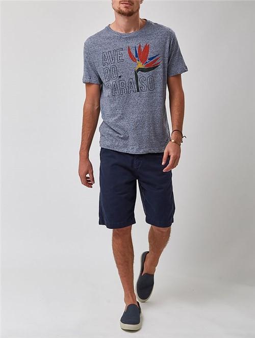 Camiseta Manga Curta Azul Tamanho P