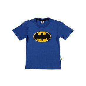 Camiseta Manga Curta Batman Infantil para Menino - Azul 1