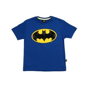 Camiseta Manga Curta Batman Infantil para Menino - Azul 8