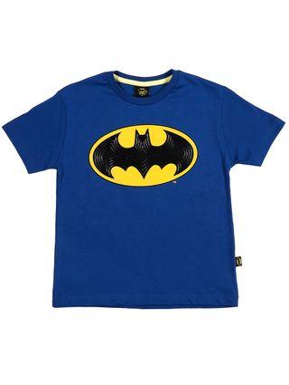 Camiseta Manga Curta Batman Infantil para Menino - Azul